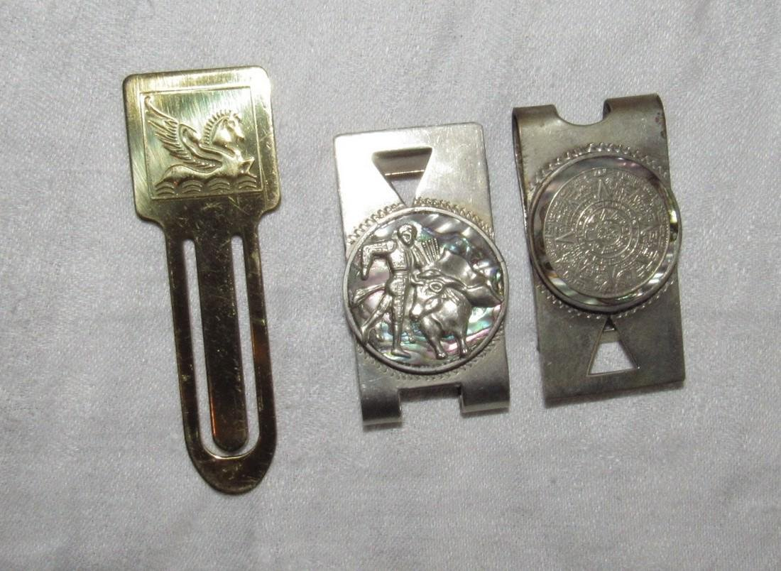 Sterling Silver Bull Fighter & Token Money Clips