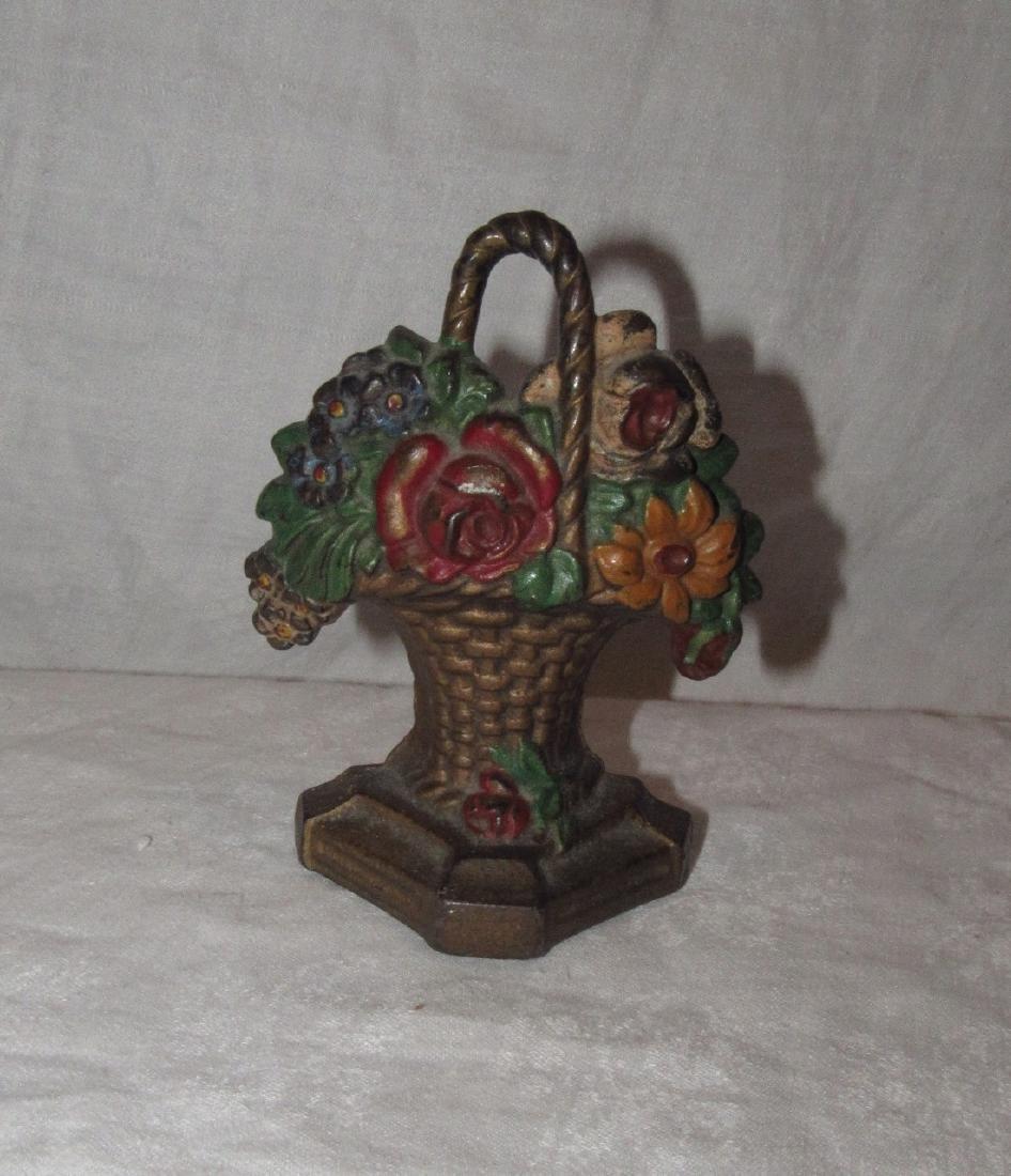 Flower Bouquet Cast Iron Doorstop