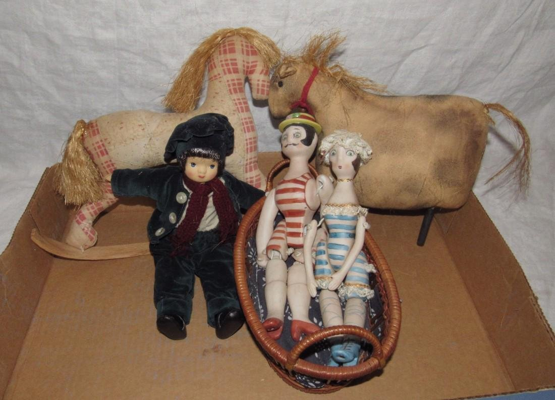 Cloth Horses and Jointed Dolls