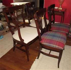 Set 8 American Empire Revival Style Dining Chairs