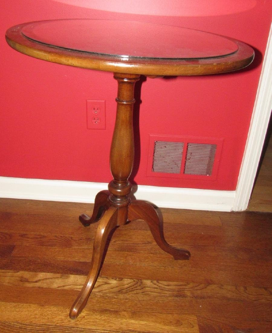 Tilt Top Candle Stand w/ Inlay