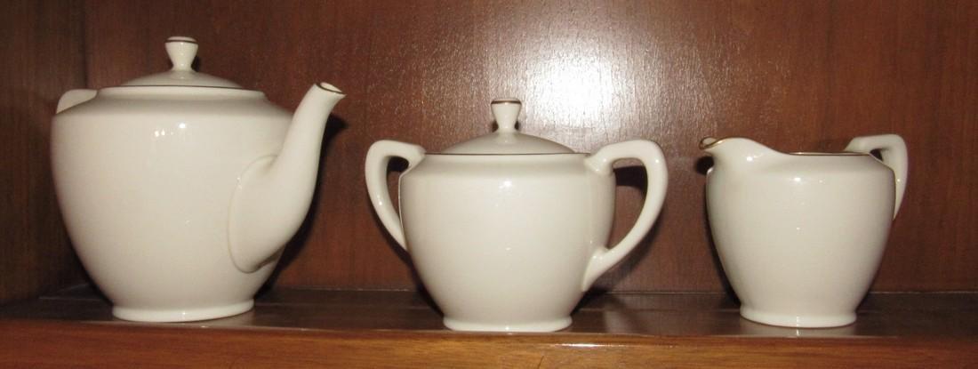 Lenox Teapot Sugar Bowl & Creamer