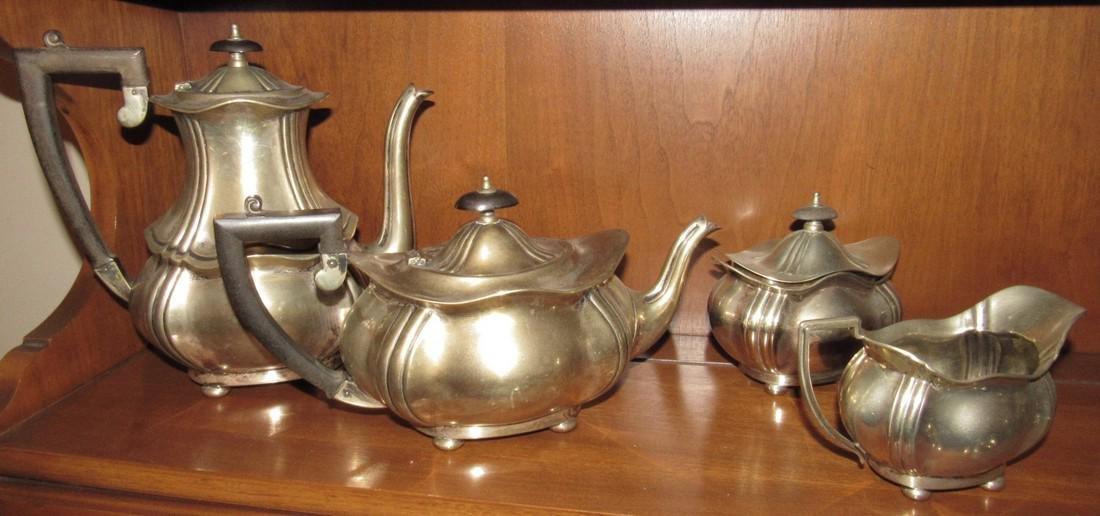 Great Britain Tea Set Teapots Silverplate Sugar Creamer