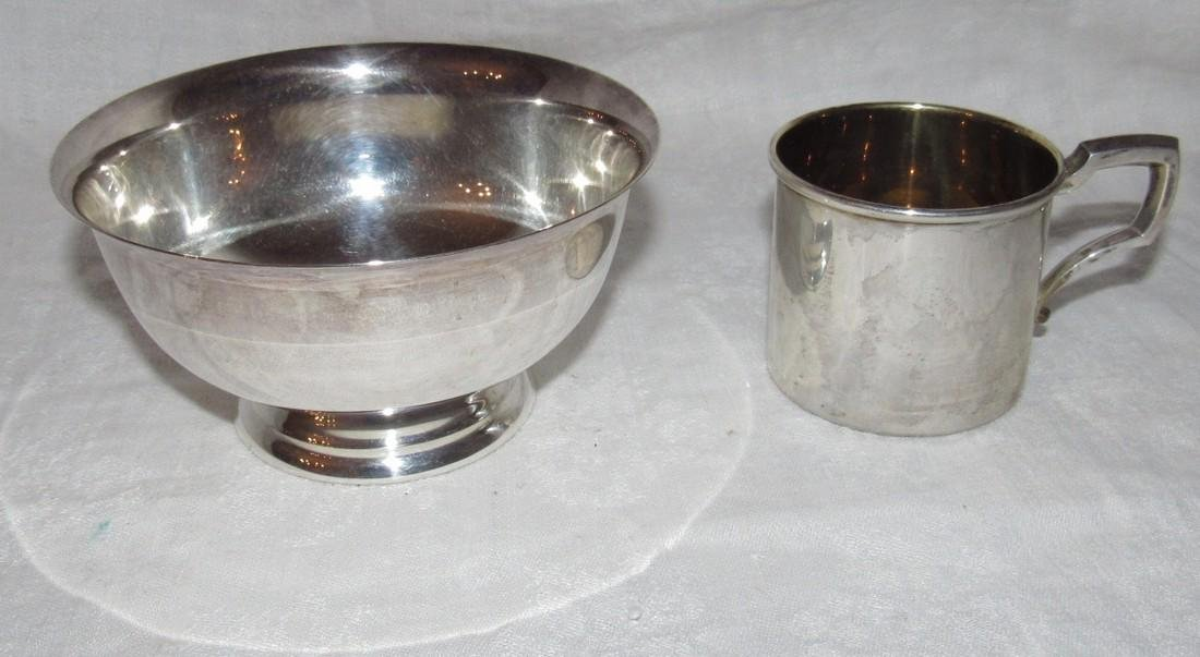 Web Sterling Silver 508 Cup & Bowl
