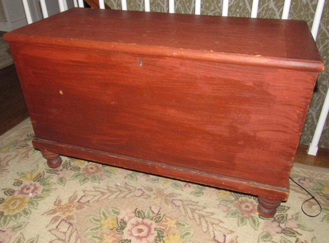 Blanket Chest in Red Paint