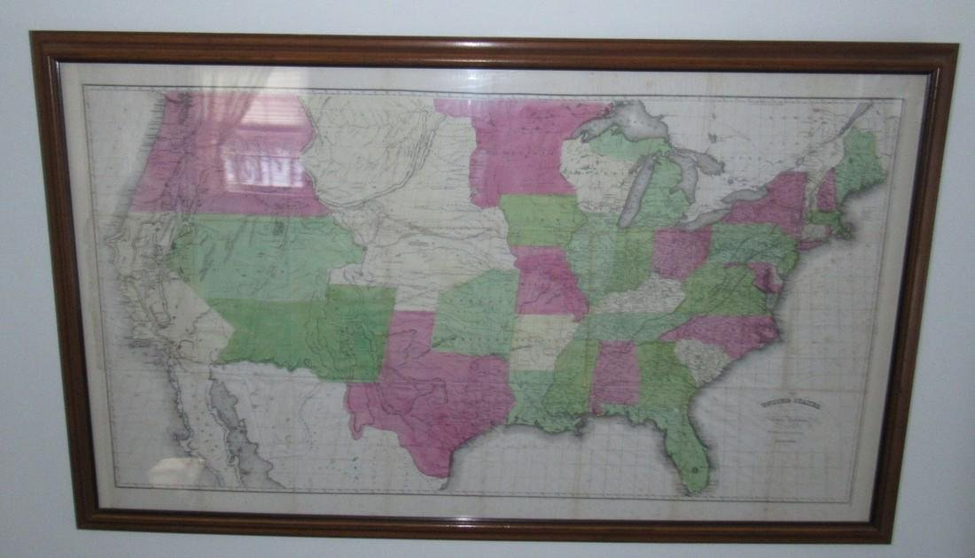 Framed United States Map