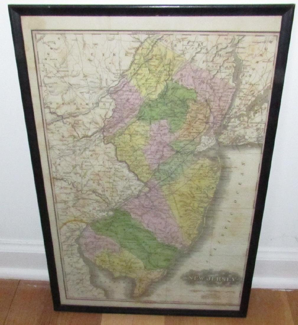 J.H Young J.H Young Engraved Litho NJ Map