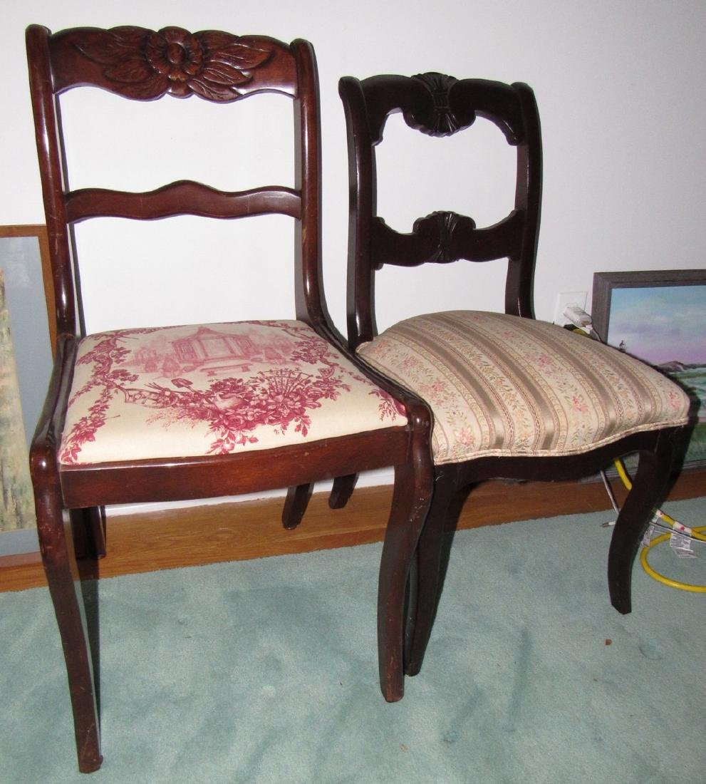 2 Walnut Chairs