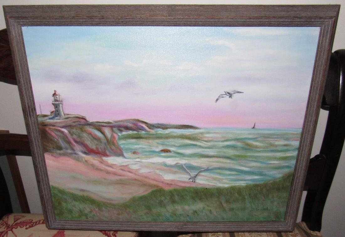 D Gaal Seaside Seascape Oil on Canvas Painting