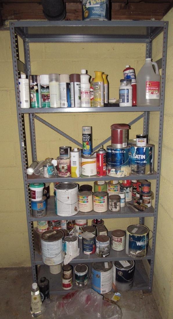 Shelves Paint Shop Light Extension Cords
