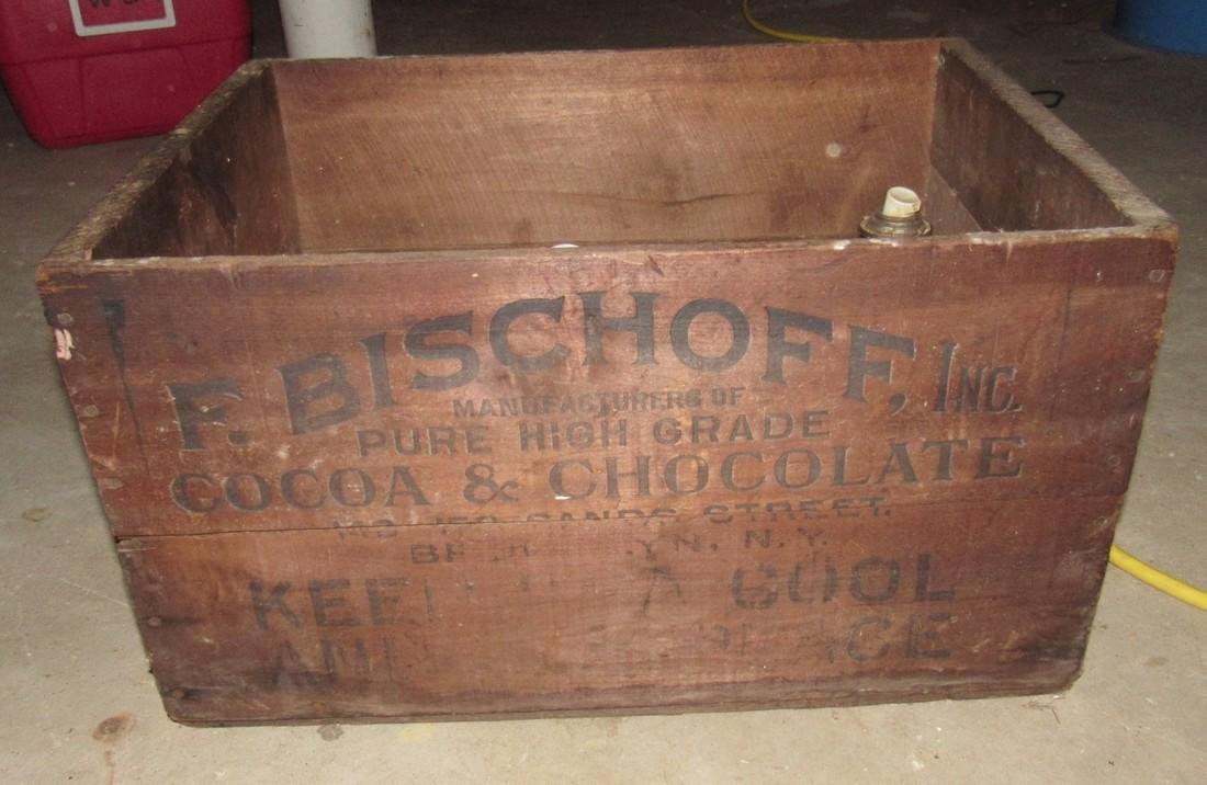 Bischoff Cocoa Chocolate Wood Crate