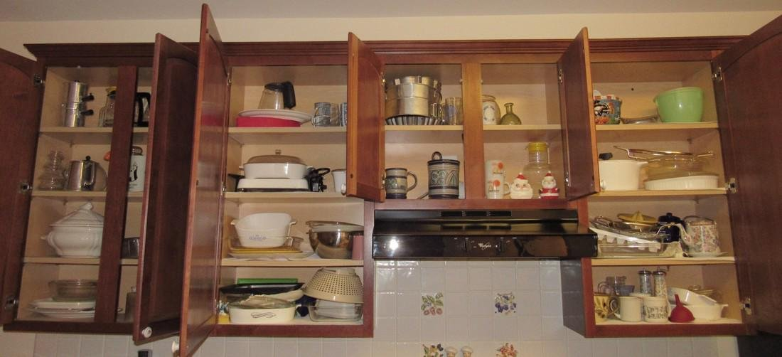 Kitchen Cabinet & Drawers Contents Dishes Cookware
