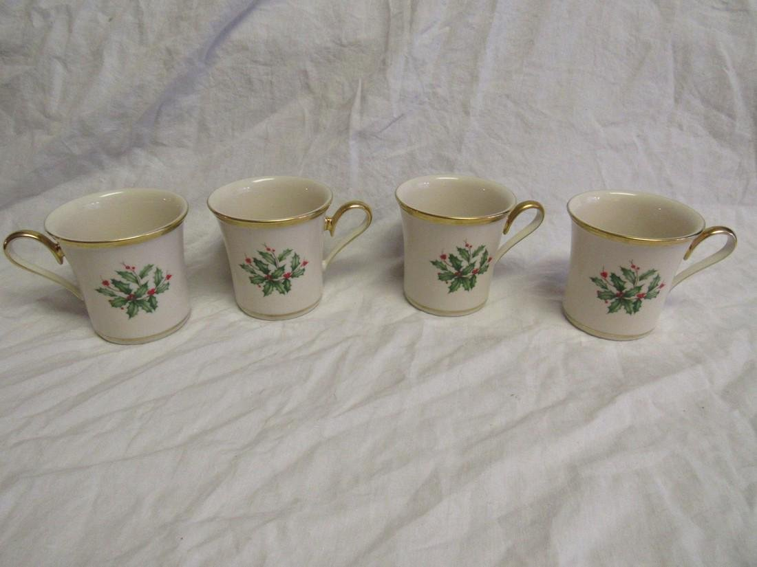 Lenox Christmas Holly Coffee Cups