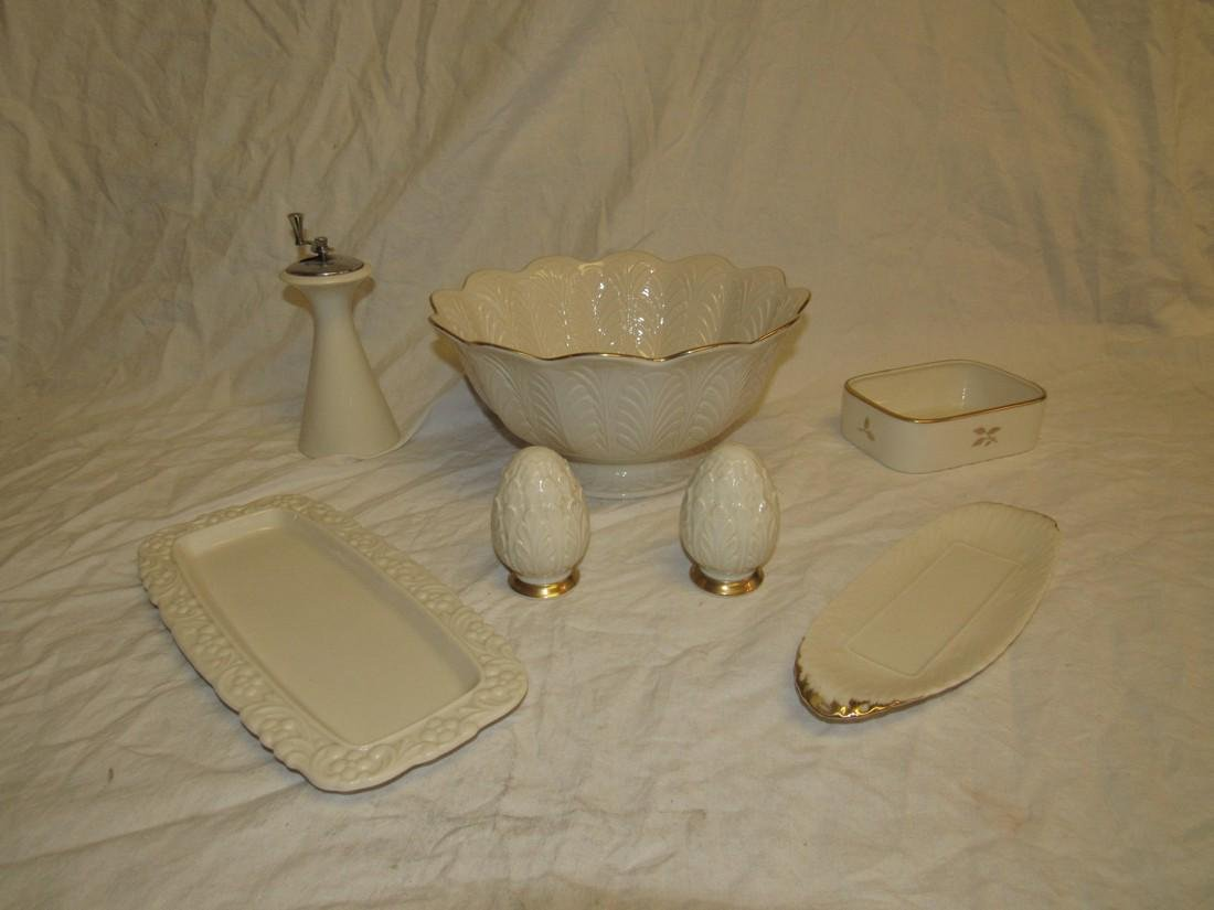 Lenox Bowl Salt & Pepper Shakers Butter Dishes