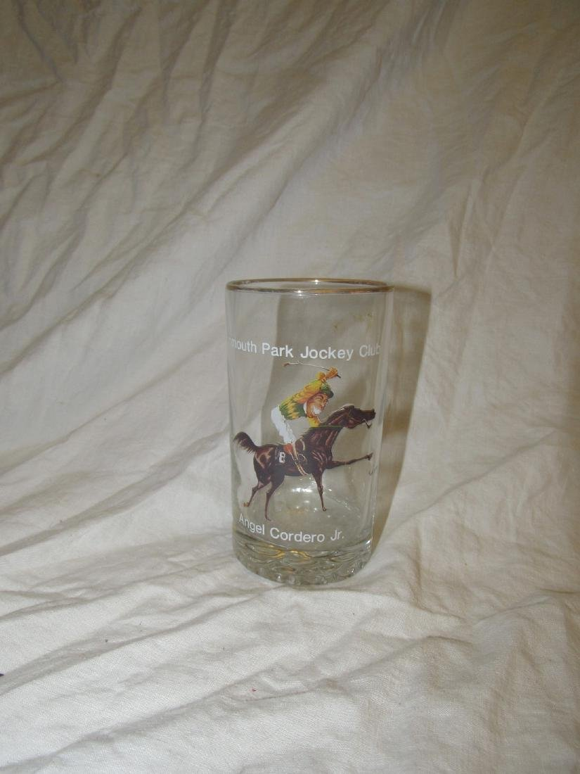 Monmouth Park Jockey Club Horse Racing Glass