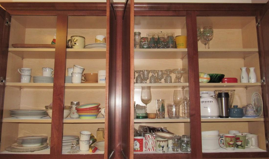 Kitchen Cabinet Contents Lenox Dinnerware Misc Dishes