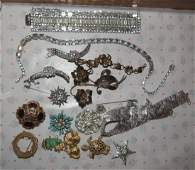 Costume Jewelry Bracelets Necklaces Brooches