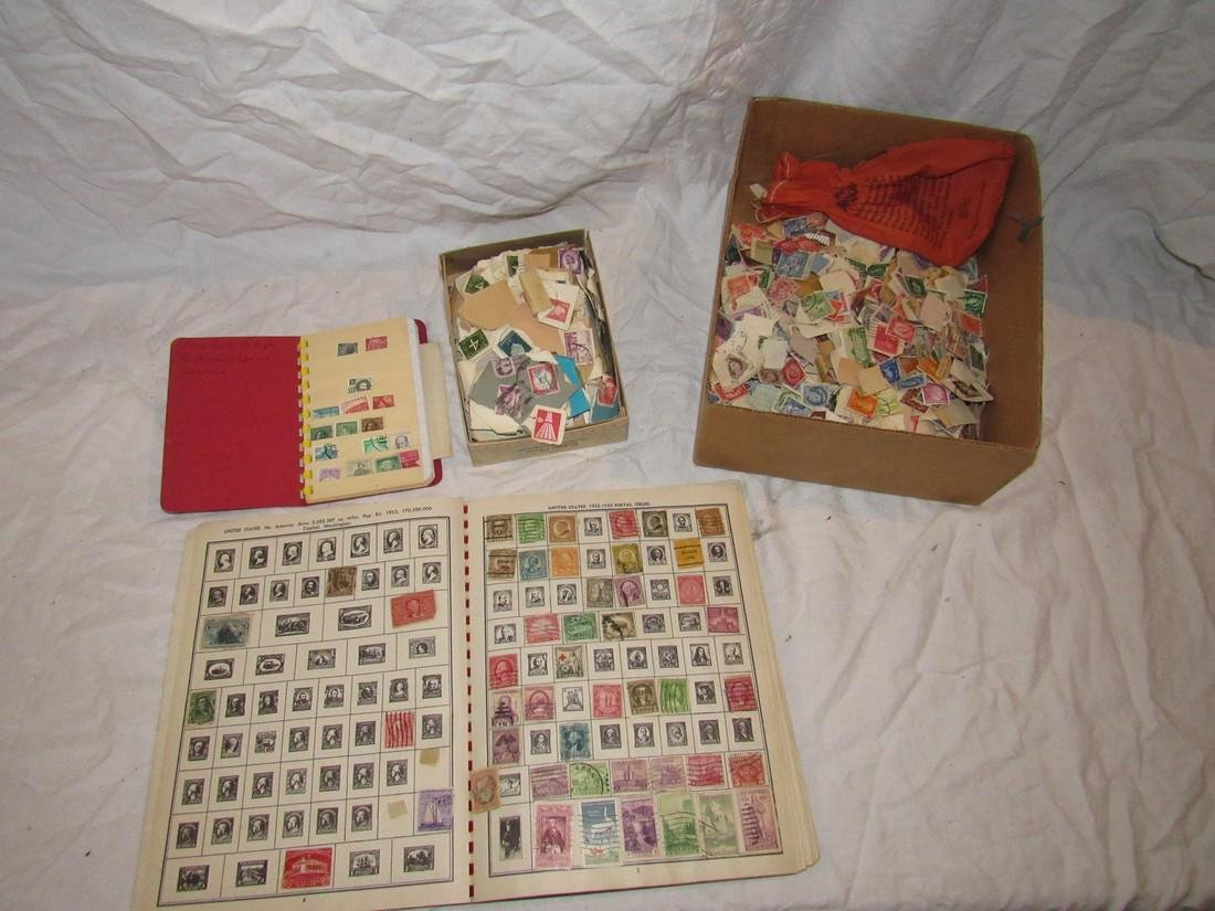 Stamp Album & Misc Stamps