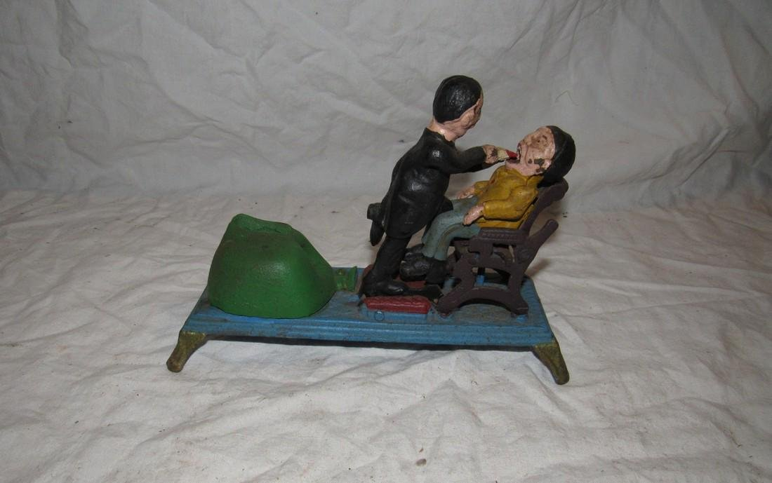 Cast Iron Dentist Mechanical Bank