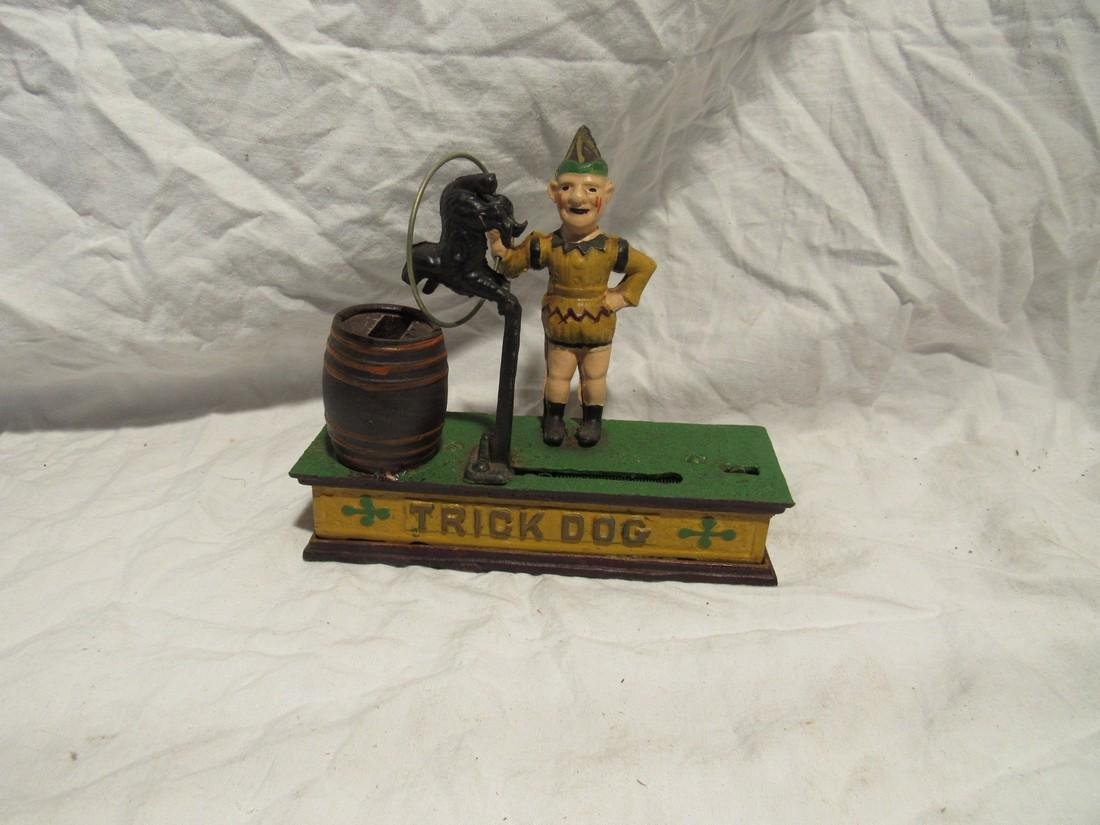 Trick Dog Circus Mechanical Bank