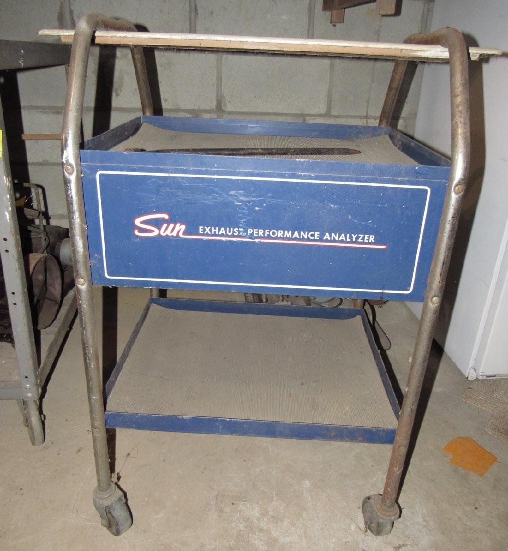 Sun Exhaust Analyzer Rolling Shop Cart