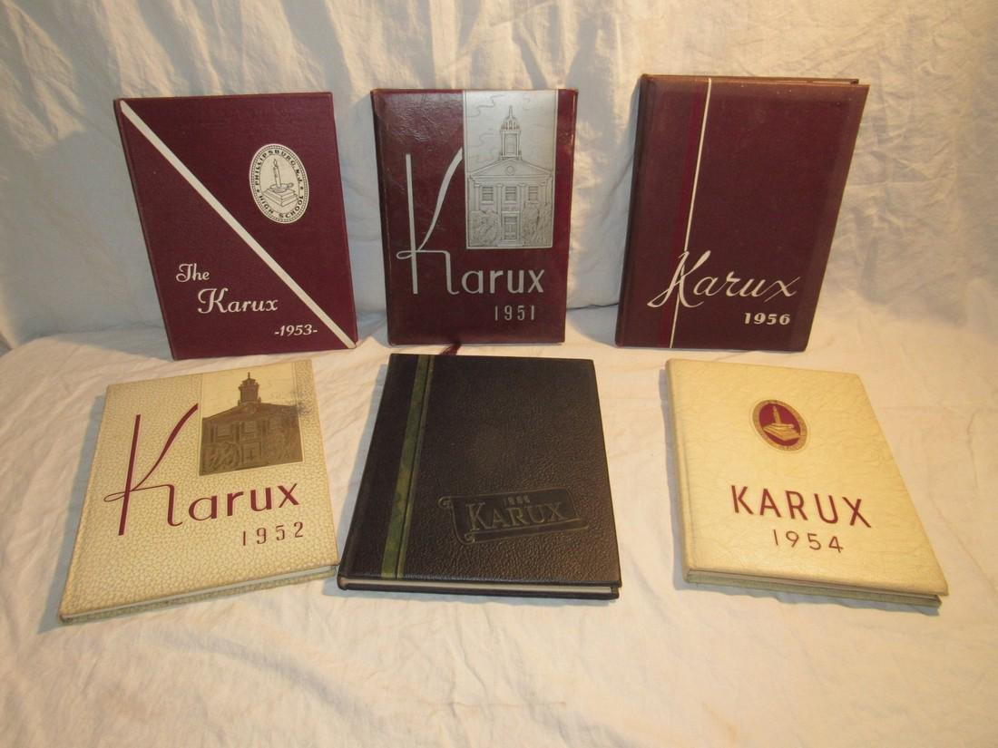 1951-1956 Phillipsburg NJ High School Karux Yearbooks