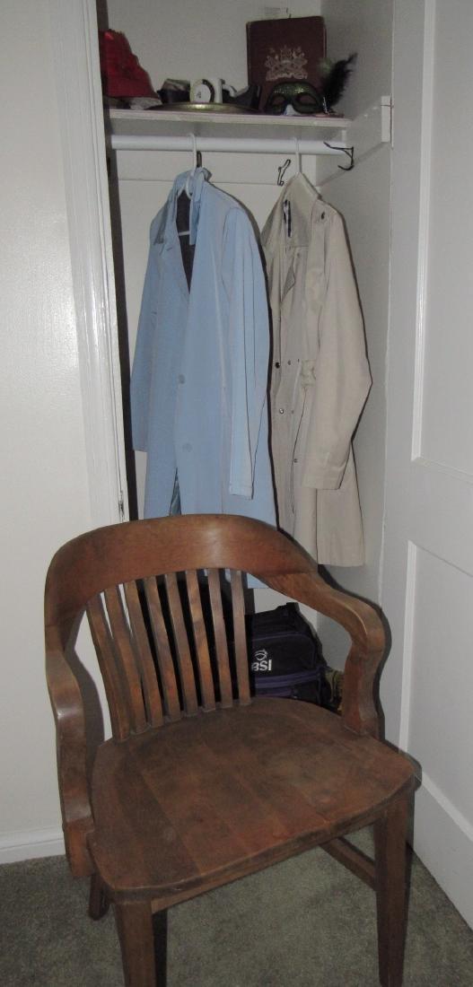 Desk Chair Coats Hat Clothing Closet Lot