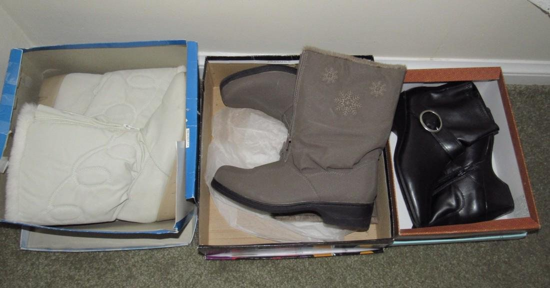 3 Pairs of Womens Size 10 Boots