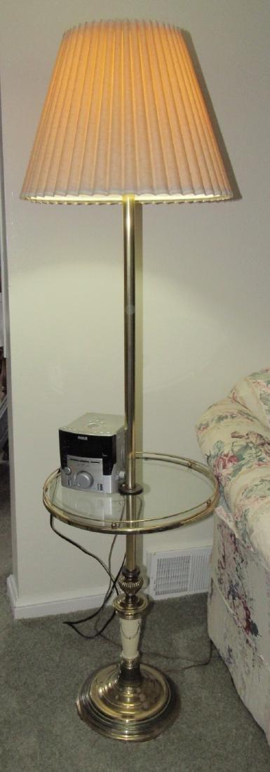 Brass Table Lamp & Radio