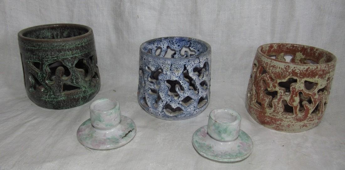Cole Sanford Pottery Candle Holders
