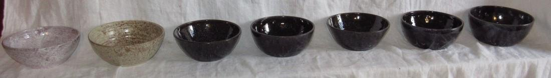 7 Cole Sanford Pottery Bowls