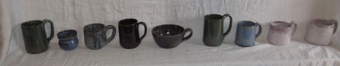 9 Cole Sanford Pottery Cups