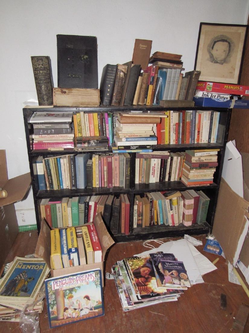 Shelf w/ Books 1855 World Geographical Descriptive