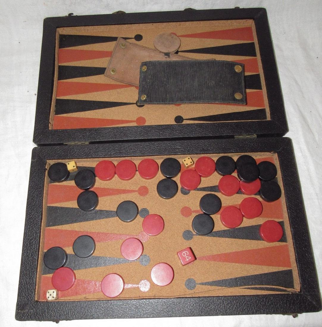 Game with Bakelite Pieces