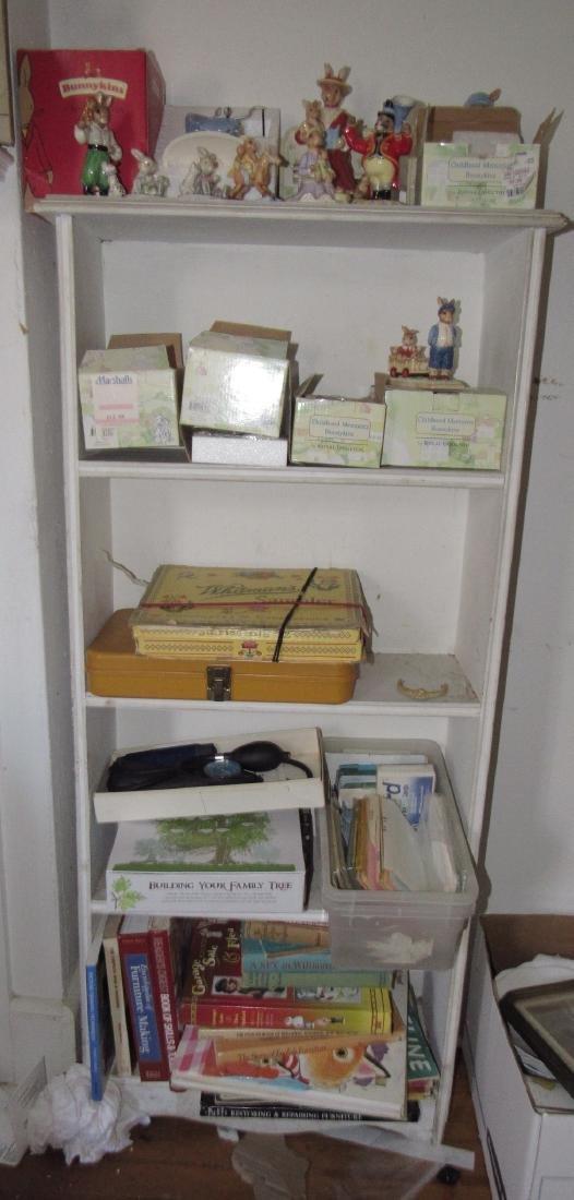 Book Shelf w/ Bunnykins & Misc.
