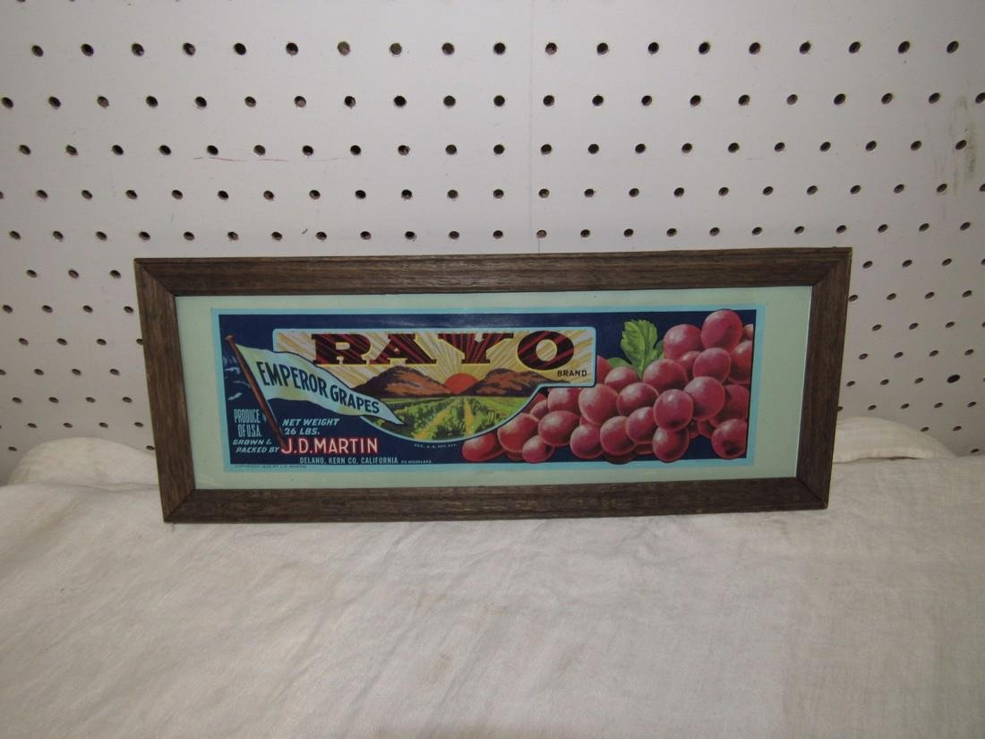 Framed Rayo Grapes Advertisement