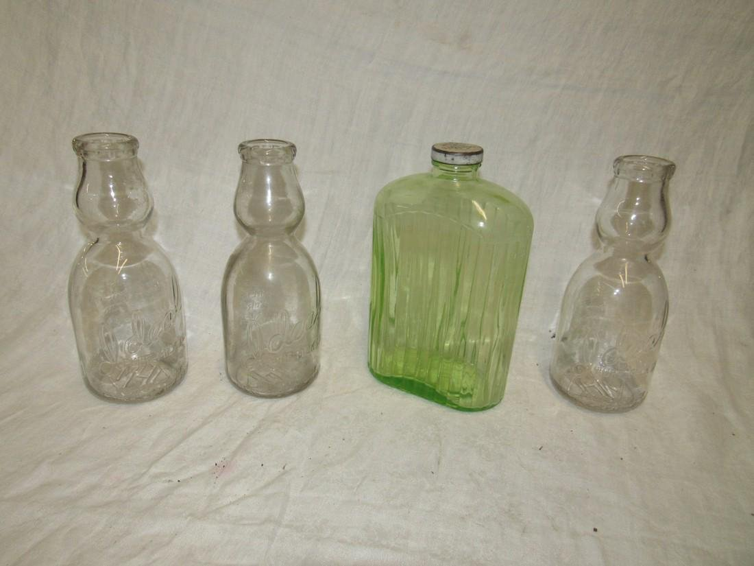 3 Ideal Cream Top Milk Bottles