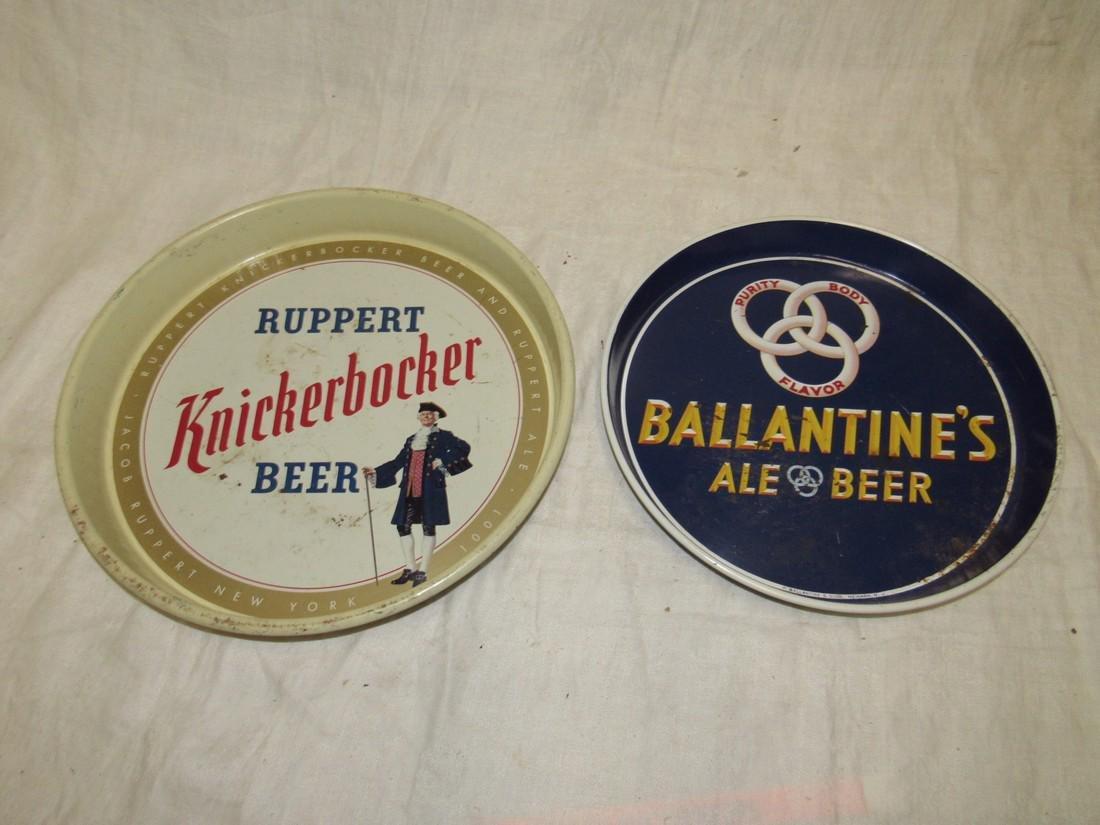 Ruppert Knickerbocker & Ballantine Beer Trays