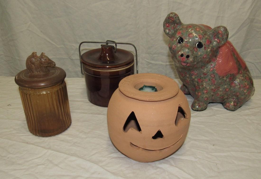 Pig Jars & Pumpkin