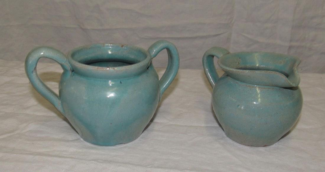 Cole Sanford Pottery Creamer & Sugar
