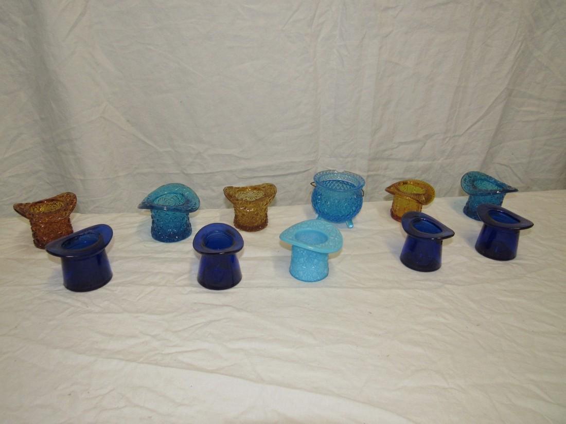 Glass Hats Sugar Bowl