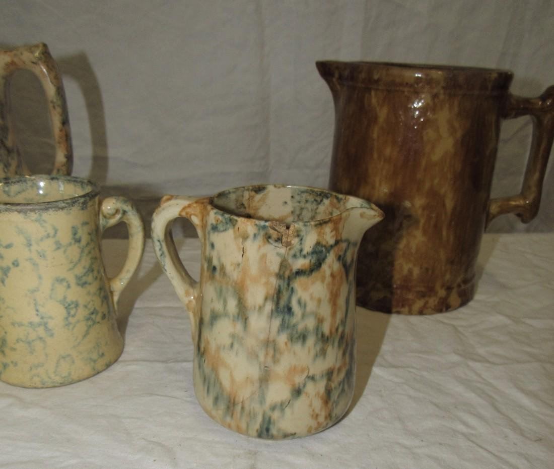 Bennington & Spongeware Pitchers - 2