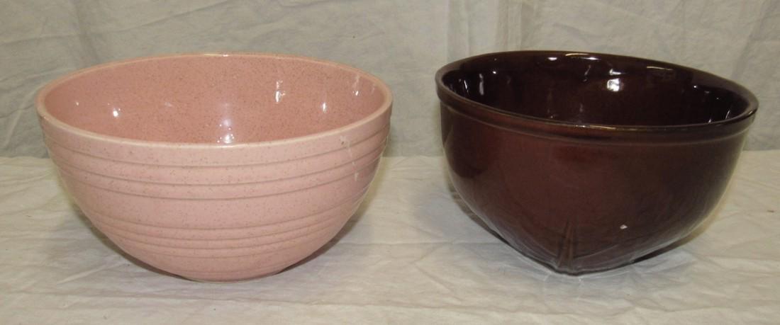 2 McCoy Mixing Bowls