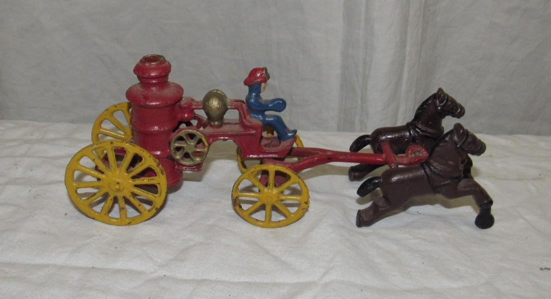 Cast Iron Horse Drawn Fire Wagon