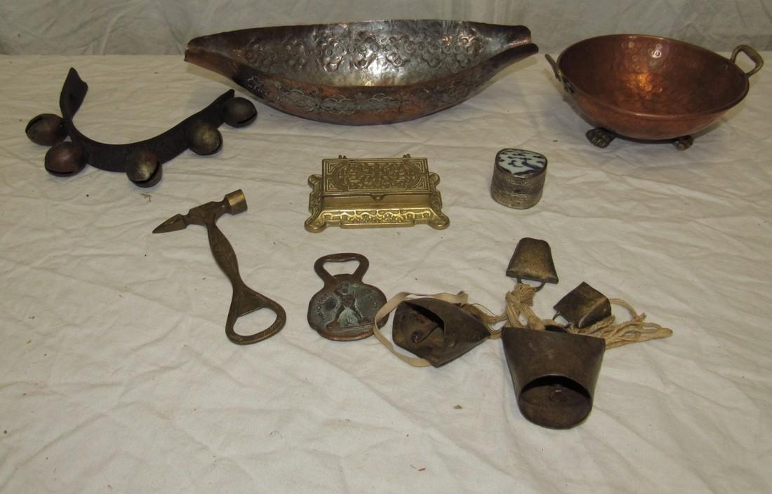 Copper & Brass Lot Bottle Opener Bells