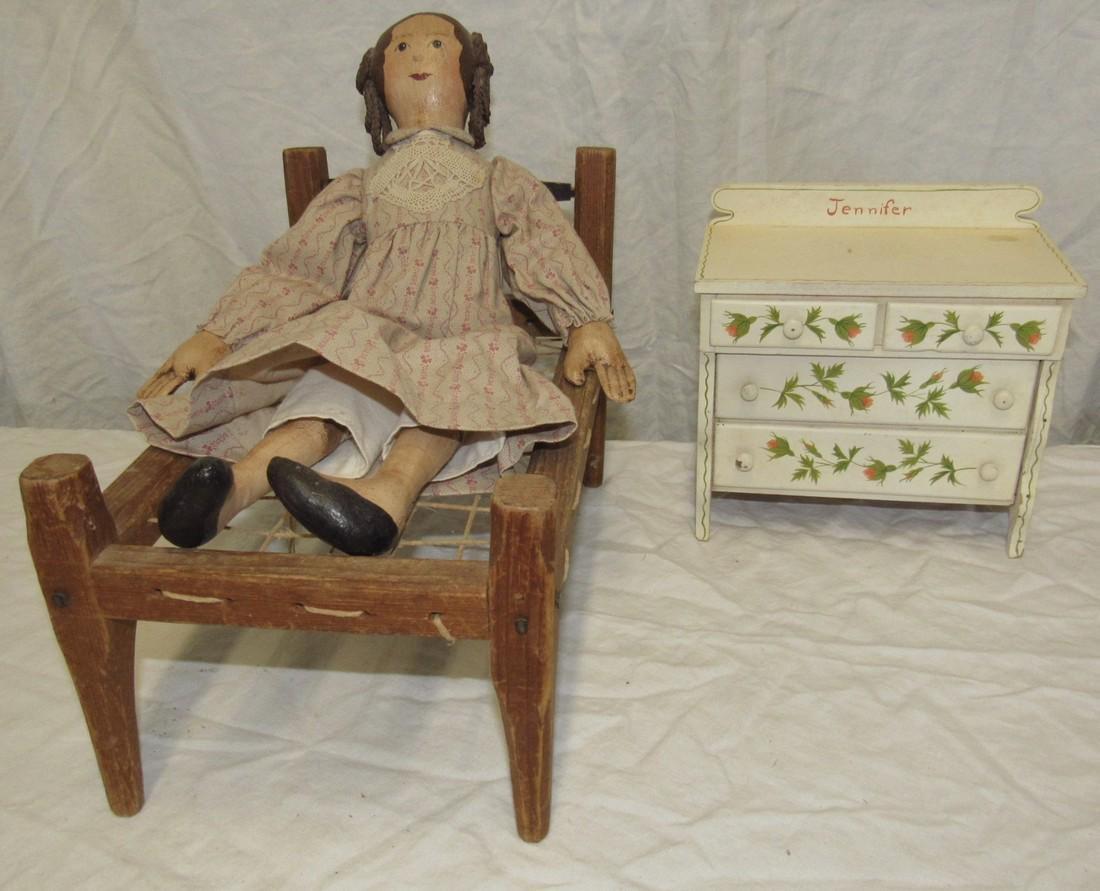 Doll Rope Bed & Dresser