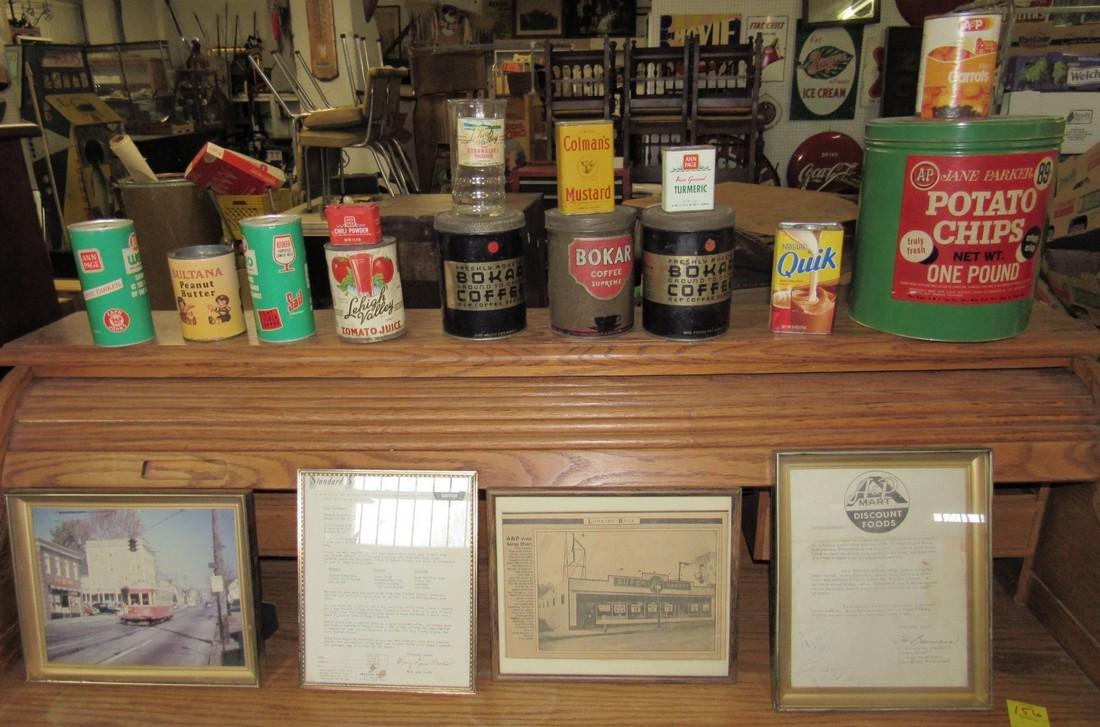 A&P Tins Photos Bokar Coffee Framed Literature