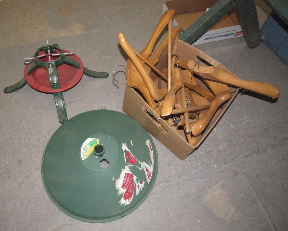 Wooden Hangers and Christmas Tree Stands