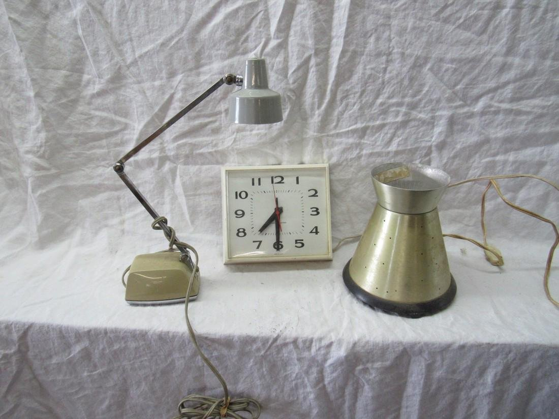 Vintage Retro Lamps & Clock