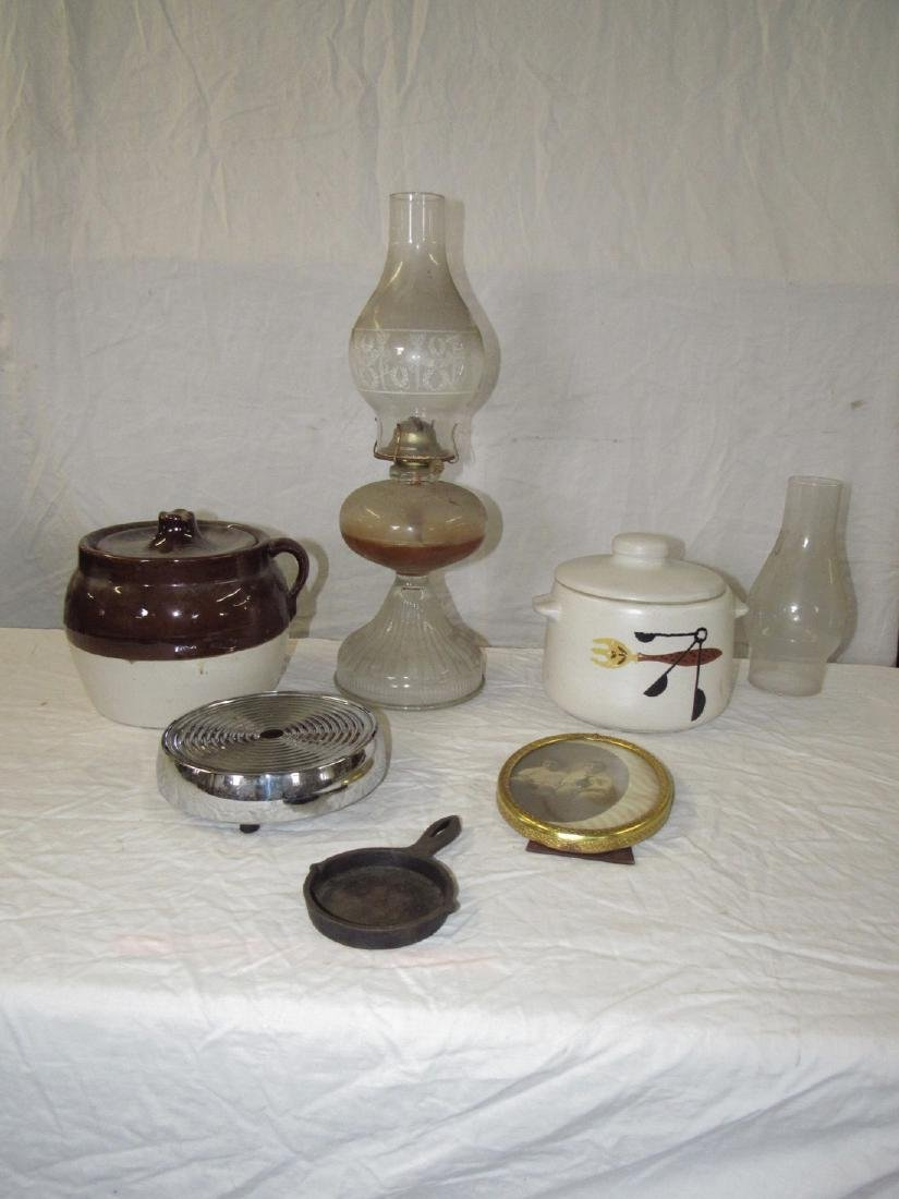 Cookie Jars Oil Lamp Hot Plate & Misc